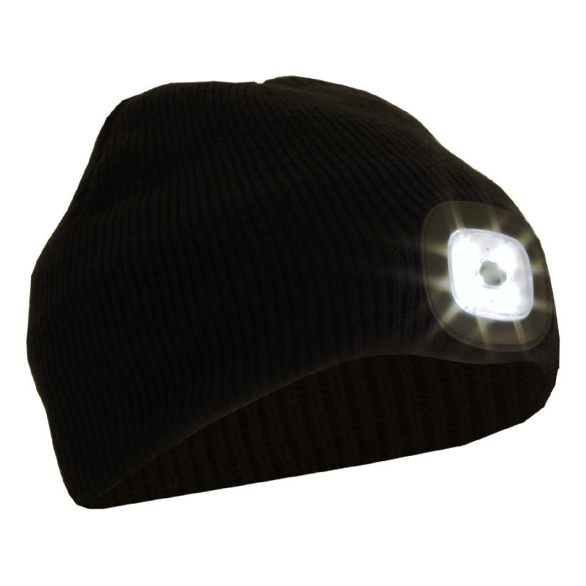 Beanie med LED strålkastare fackla, 50lm, BB04B