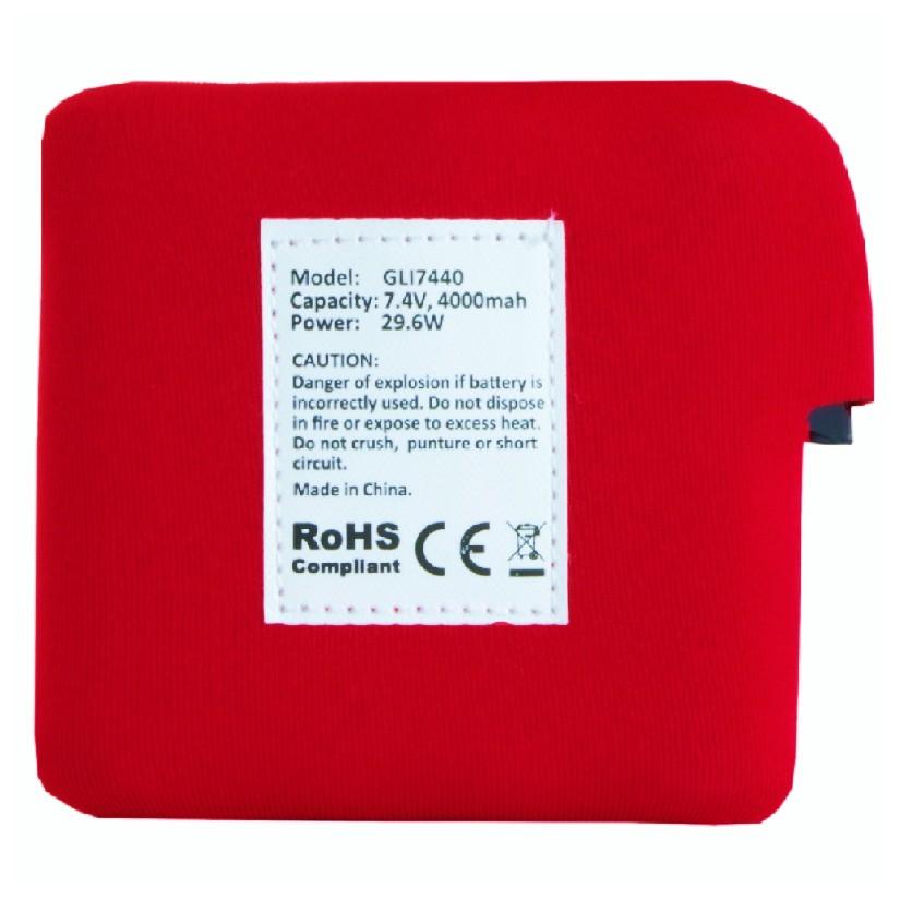 Battery for heated fleece vest, GLI7440