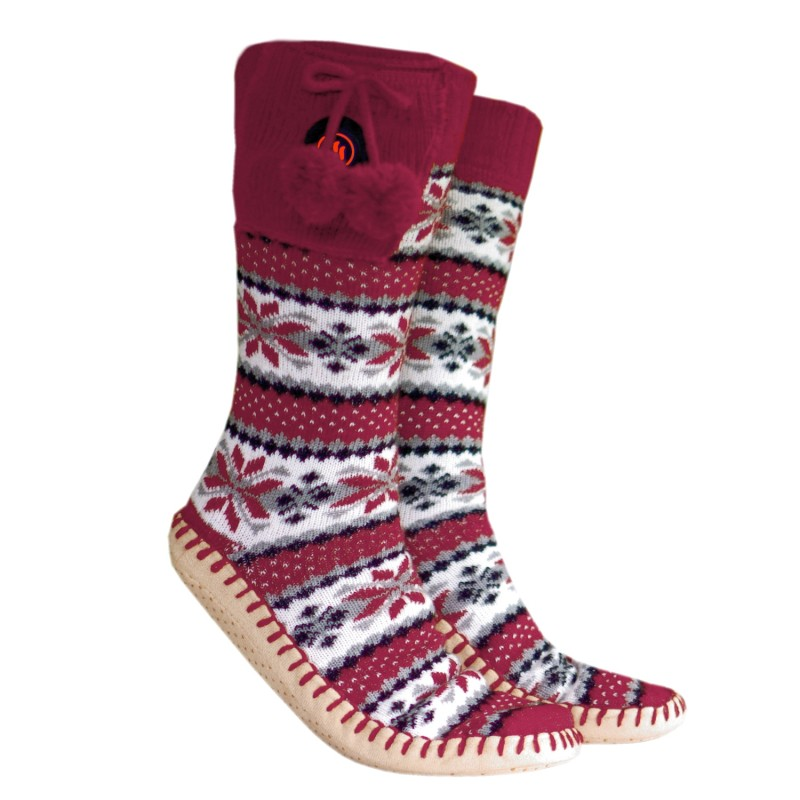 Heated slippers with socks, GQ5L